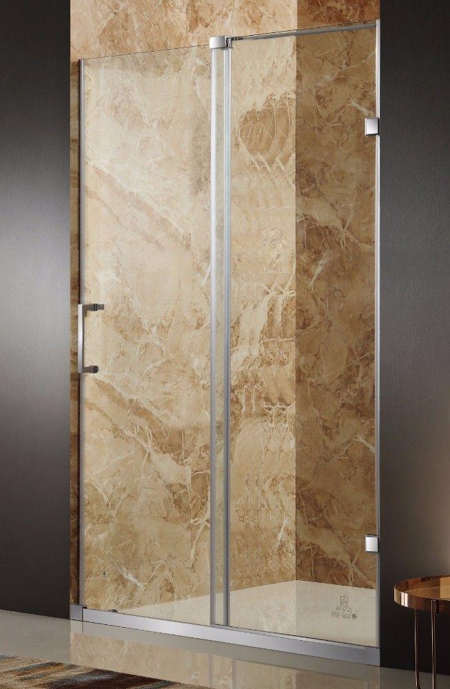 Chief 60 x 72 Frameless Sliding Shower Door in Brushed Finish w/ Handle - ANZZI SD-AZ03ABH-R #framelessslidingshowerdoors