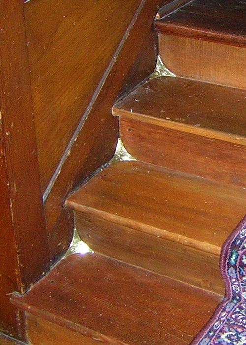 Twelve New Stamped Brass Stair Dust Corners In The