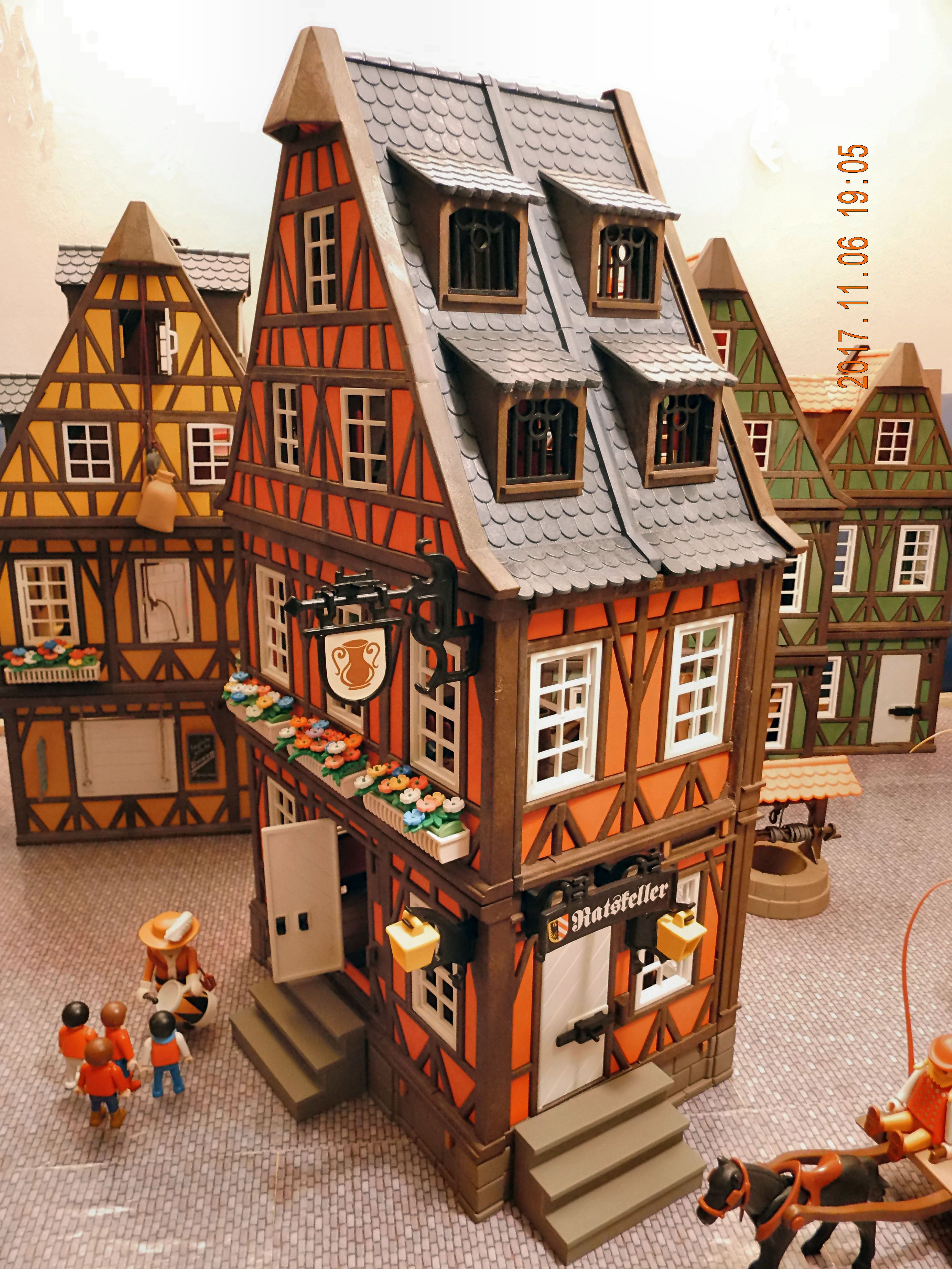 casa roja de playmobil cuatruple maison de poupee maison bois playmobil