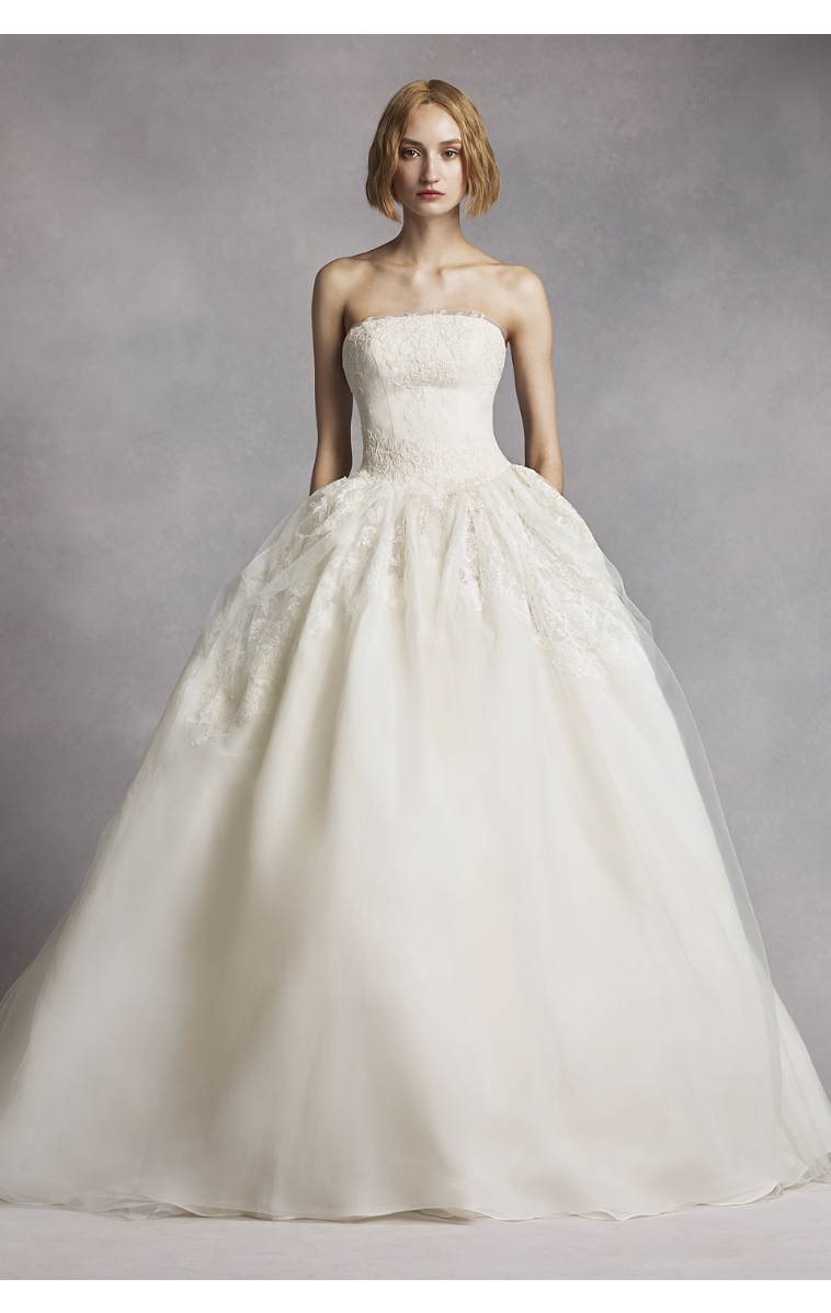 Most Popular New Coming White By Vera Wang Twill Gazar Tulle Wedding Gowns 4xlvw351088 Ball Gowns Wedding Bridal Gowns Ball Gown Wedding Dress