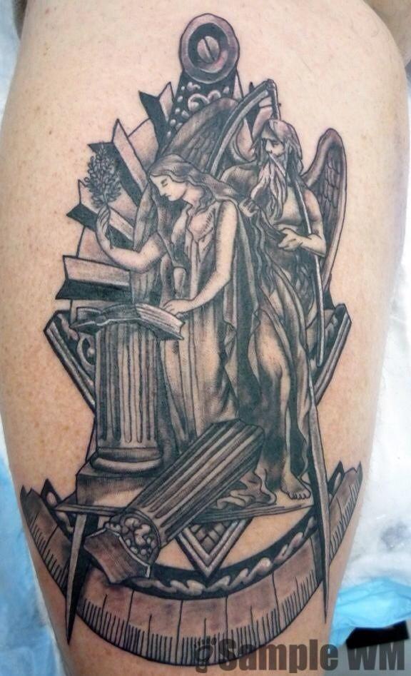 823cc6f55 Freemason tattoo | Freemason tattoos | Masonic tattoos, Freemason ...