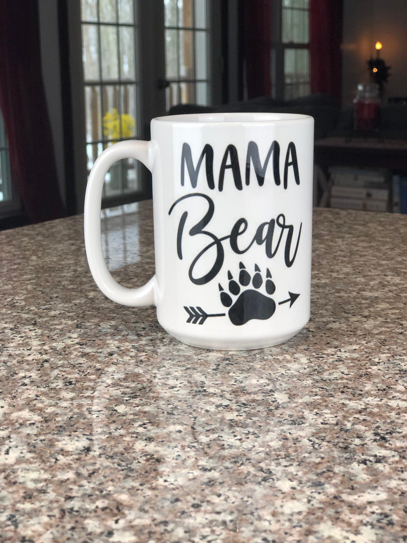 Mama Bear Mug \\ Paw Print Mug \\ Personalized Mug