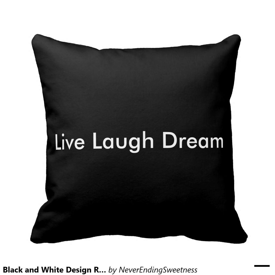 Black and White Design Reversible pillow