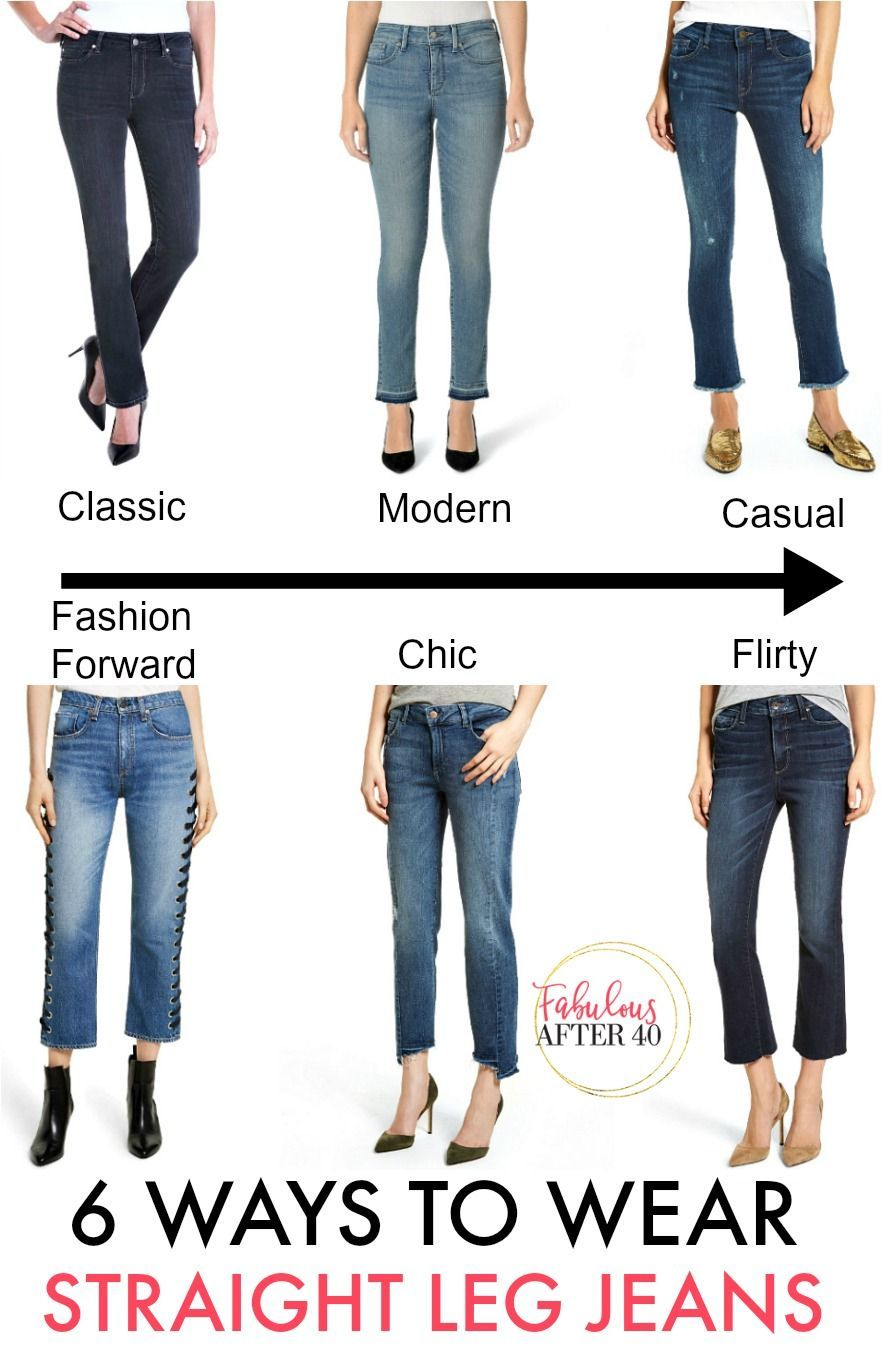 How to Wear the New Straight Leg Jeans
