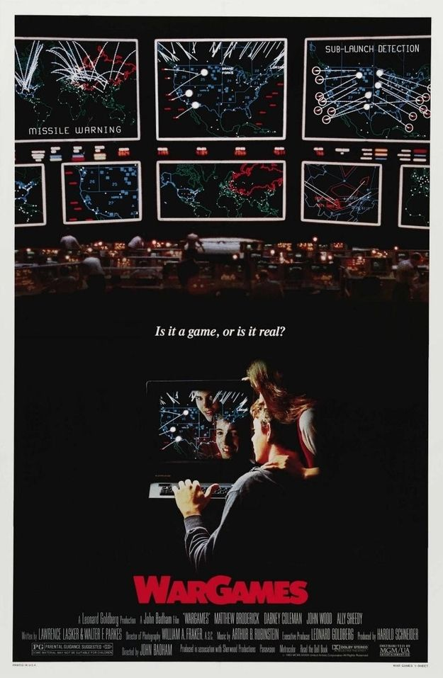 Wargames 1983 Movies 80s Movies Sci Fi Movies