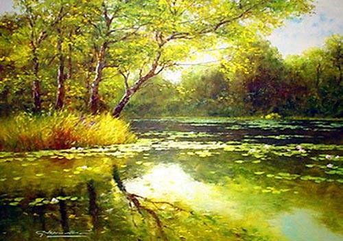 oil painting landscape - Cerca con Google