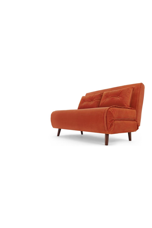 Haru Kleines Schlafsofa Samt In Glutorange Home Decor Couch Furniture