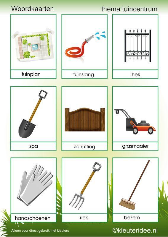 woordkaarten thema tuincentrum 2 kleuteridee nl free