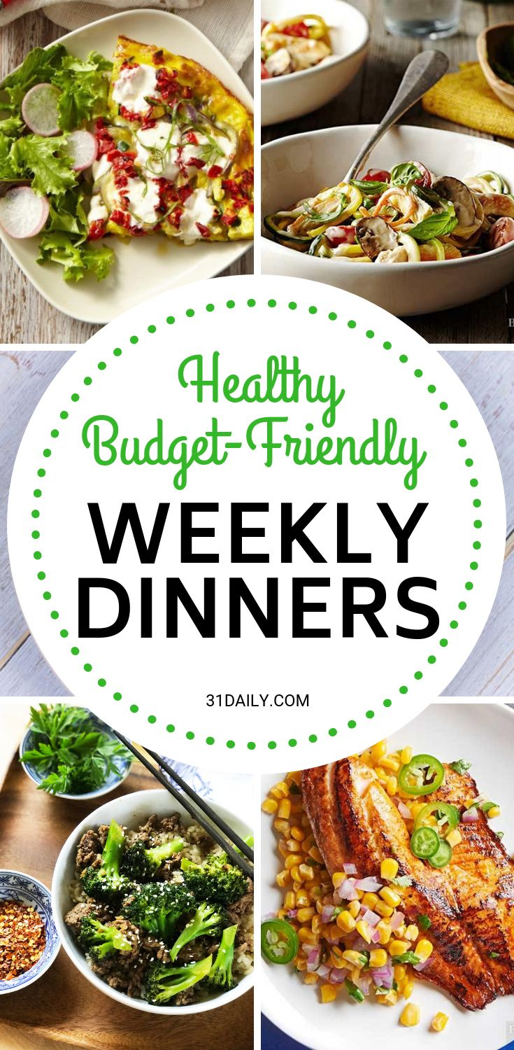 Meal Plan // Week 3: Healthy Budget Friendly Dinners images