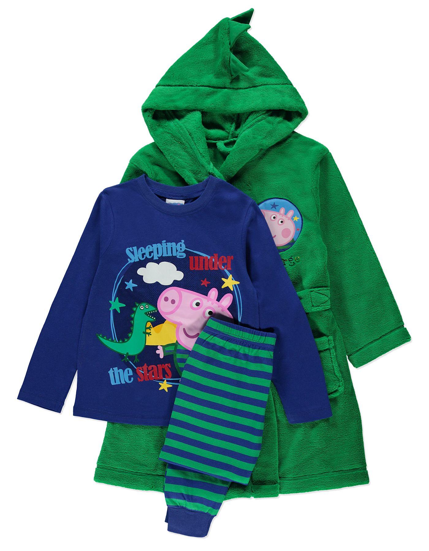 George Pig Dressing Gown and Pyjamas Set | Kids | George at ASDA ...