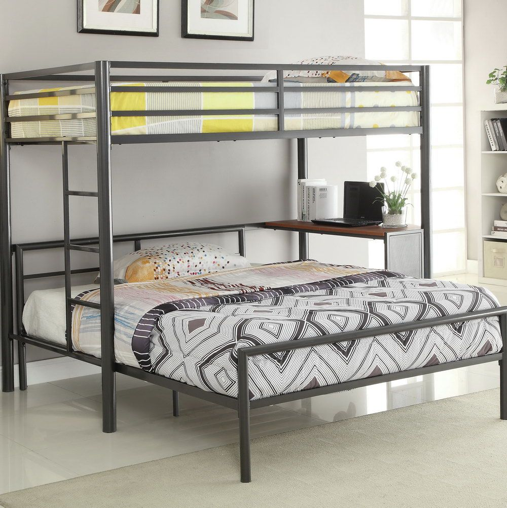 3 Bed Bunk Beds Sturdy Bunk Beds for Adults Twin Over