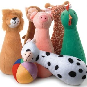 Soft animal bowling game