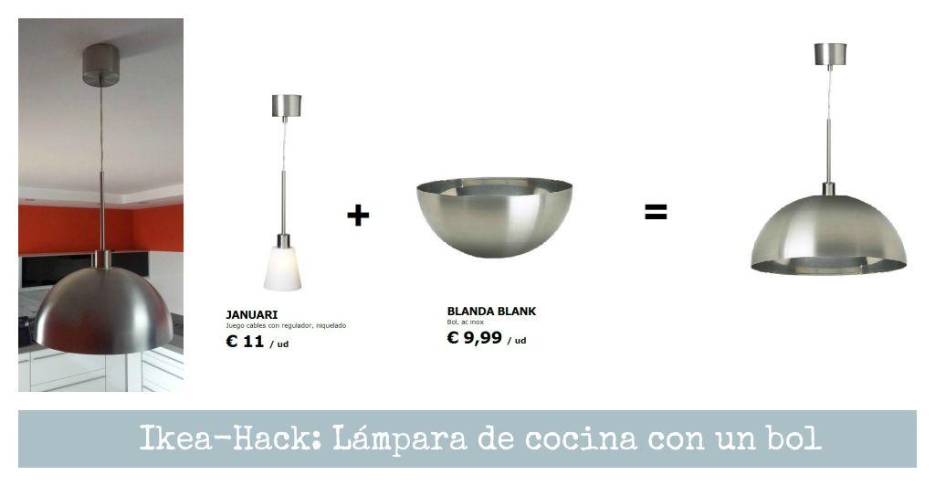 Ikea-Hack:Cómo hacer una lámpara de cocina con un bol : x4duros.com