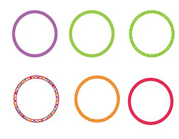 Editable Circle Name Plates Tags And Labels With Images