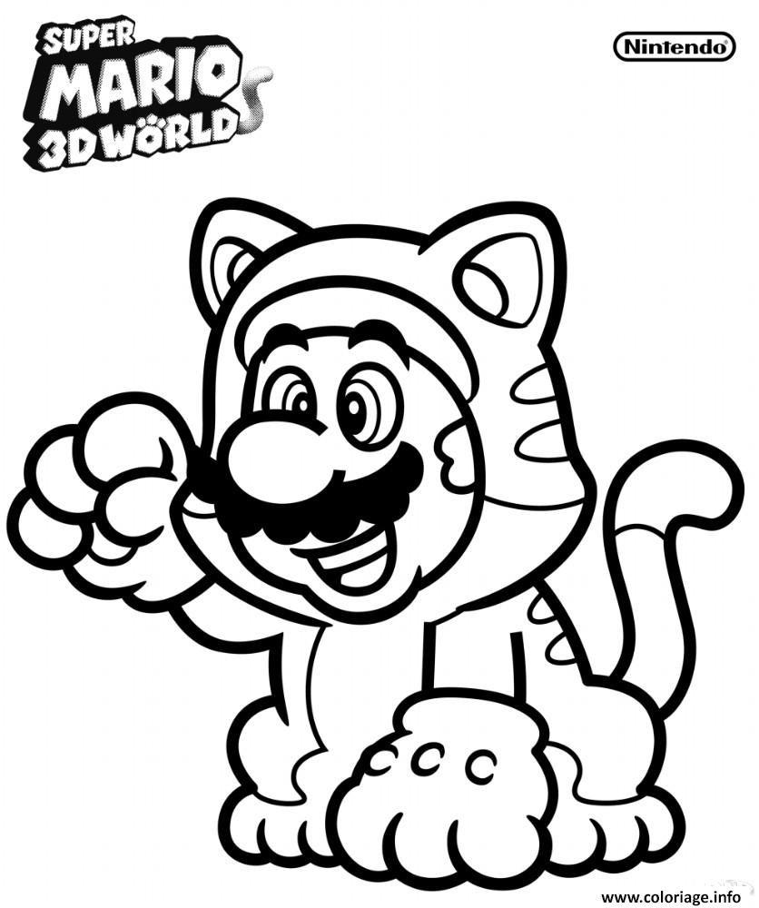 imprimer Coloriage Mario Bros A Imprimer dessin   Ping32coin