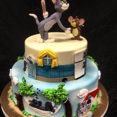 buttercream tom and jerry cake designs Google Search cake ideas