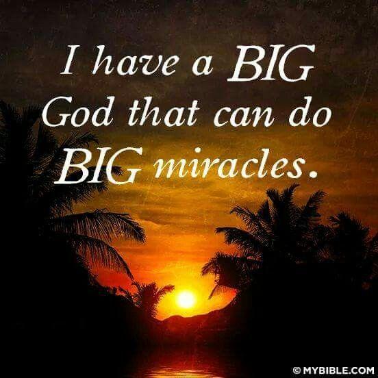 I have a Big God