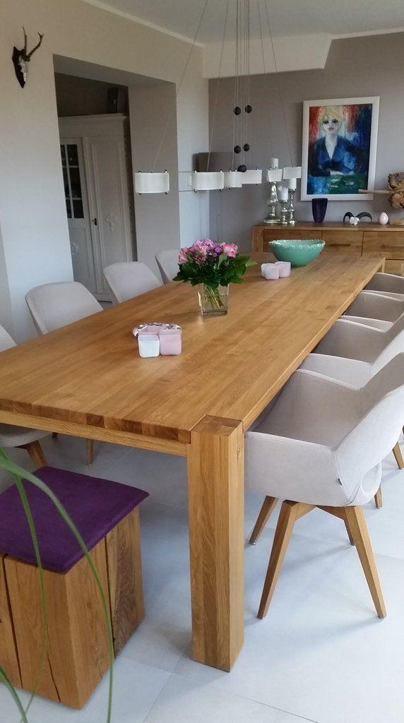 massivholztisch eiche f r 10 12 personen 304 x 105 cm pinterest tisch
