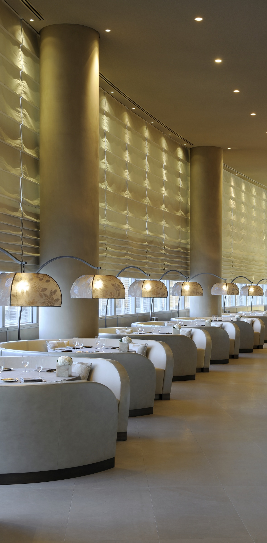 MODERN RESTAURANT DECOR   Armani Hotel Dubai    bocadolobo.com   #luxuryhotels #besthotels