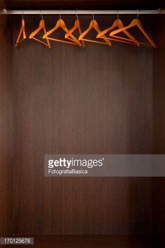 empty closet with hangers. Stock Photo : Empty Closet With Hangers