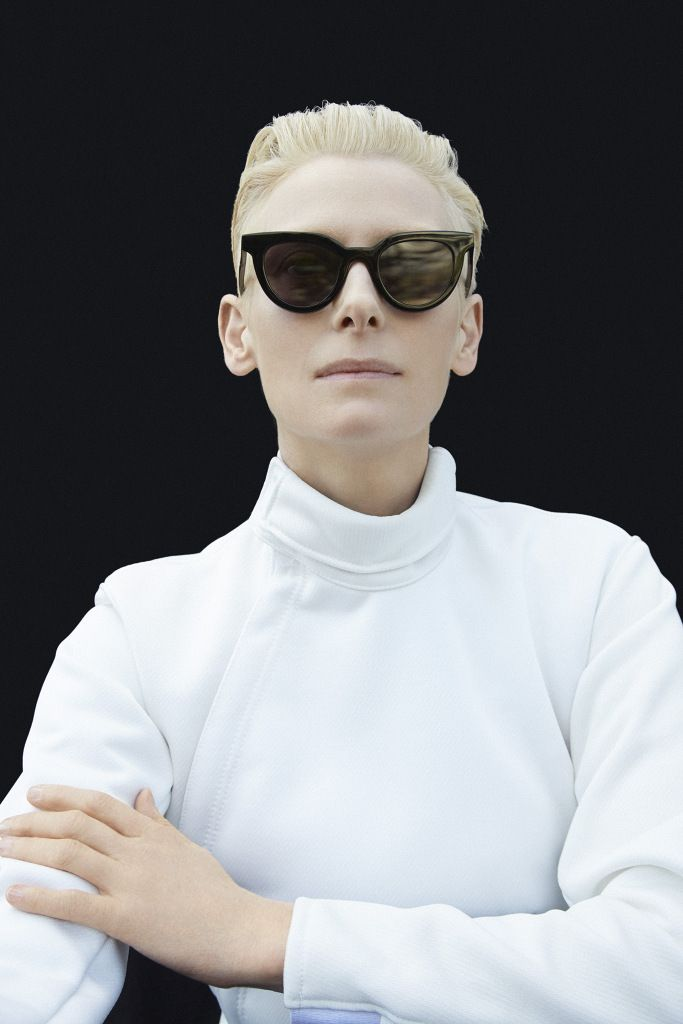 Campaign images for Tilda Swinton x Gentle Monster shot by Erik Madigan Heck