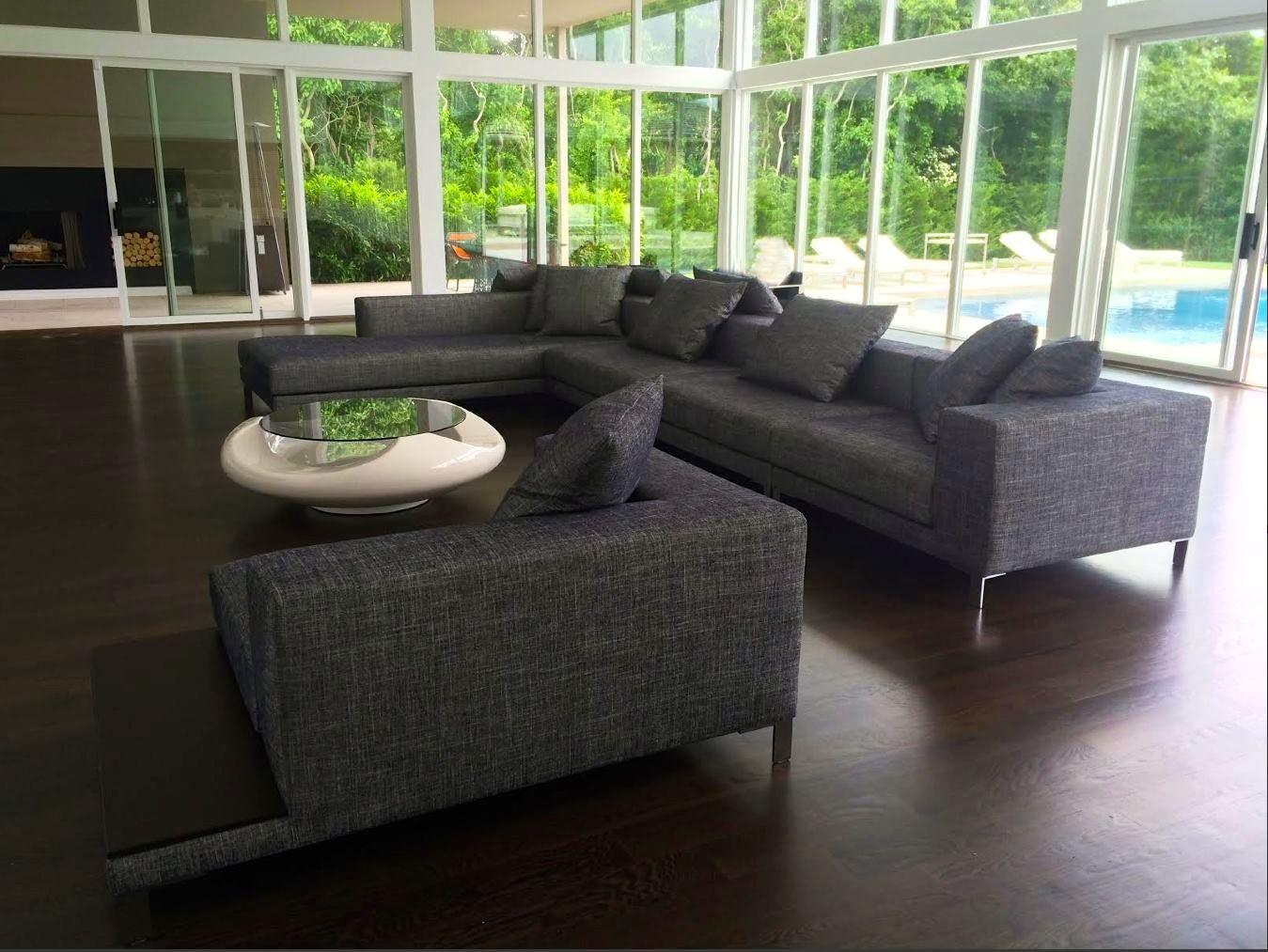 Ella Home Sofa ~ Sided ella sofa custom made with built in end tables luxury