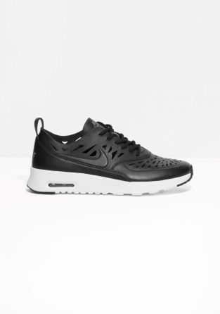 info for e8396 07d4a NIKE The Nike Air Max Thea Joli is a premium leather sneaker with a  lightweight cushioning and a sleek cut out upper that provides good  breathability and ...