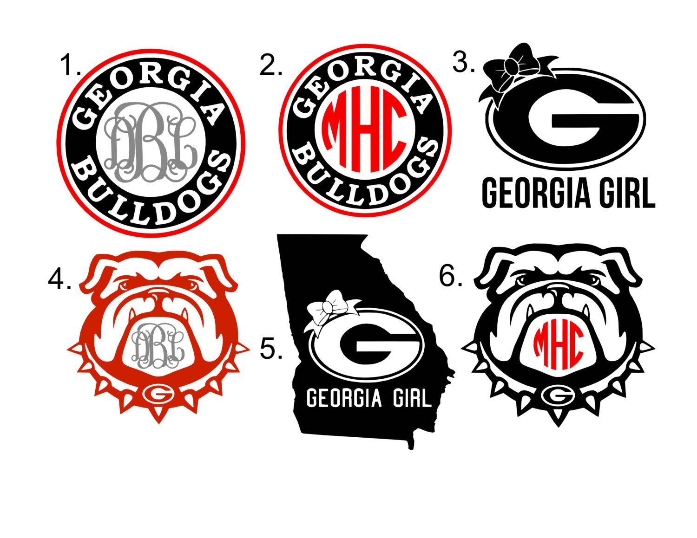 Georgia Bulldog Monogram Monogram Decal Georgia And Monograms