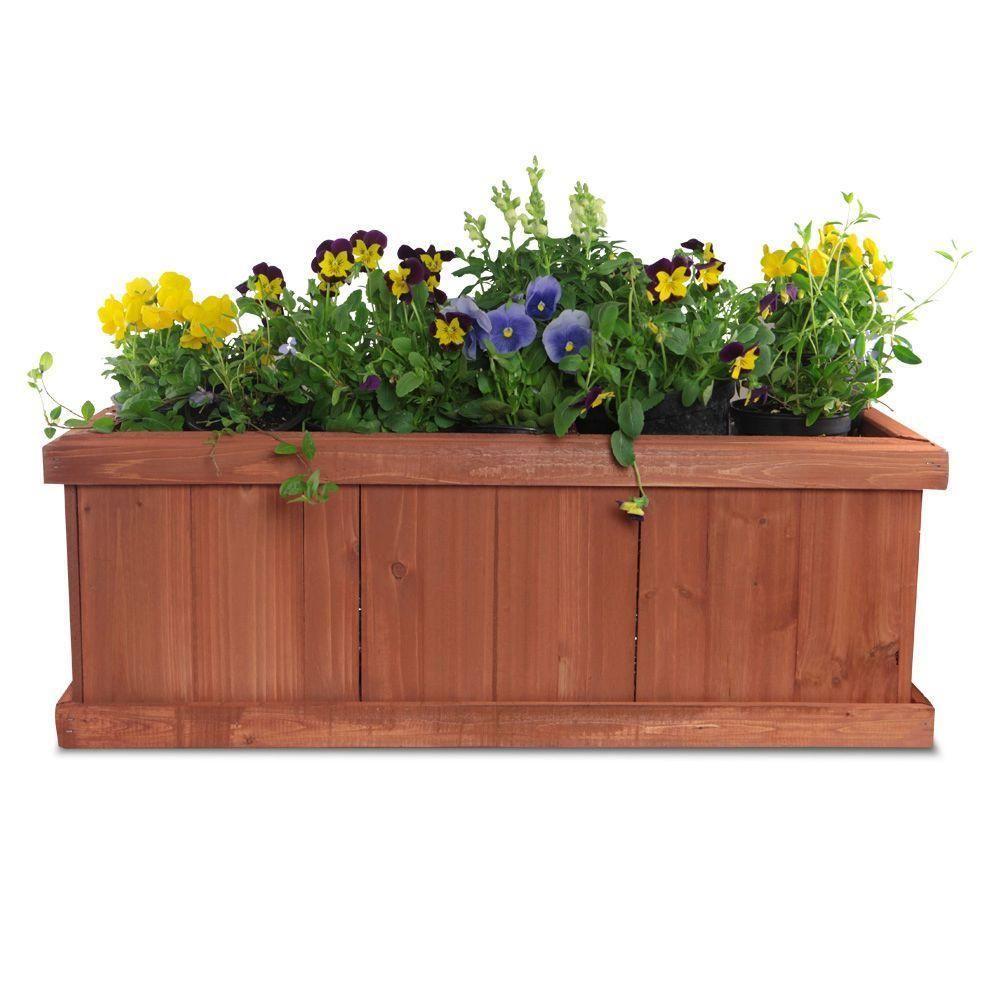Window Box Planter Ideas: Pennington 28 In. X 9 In. Wood Window Planter Box
