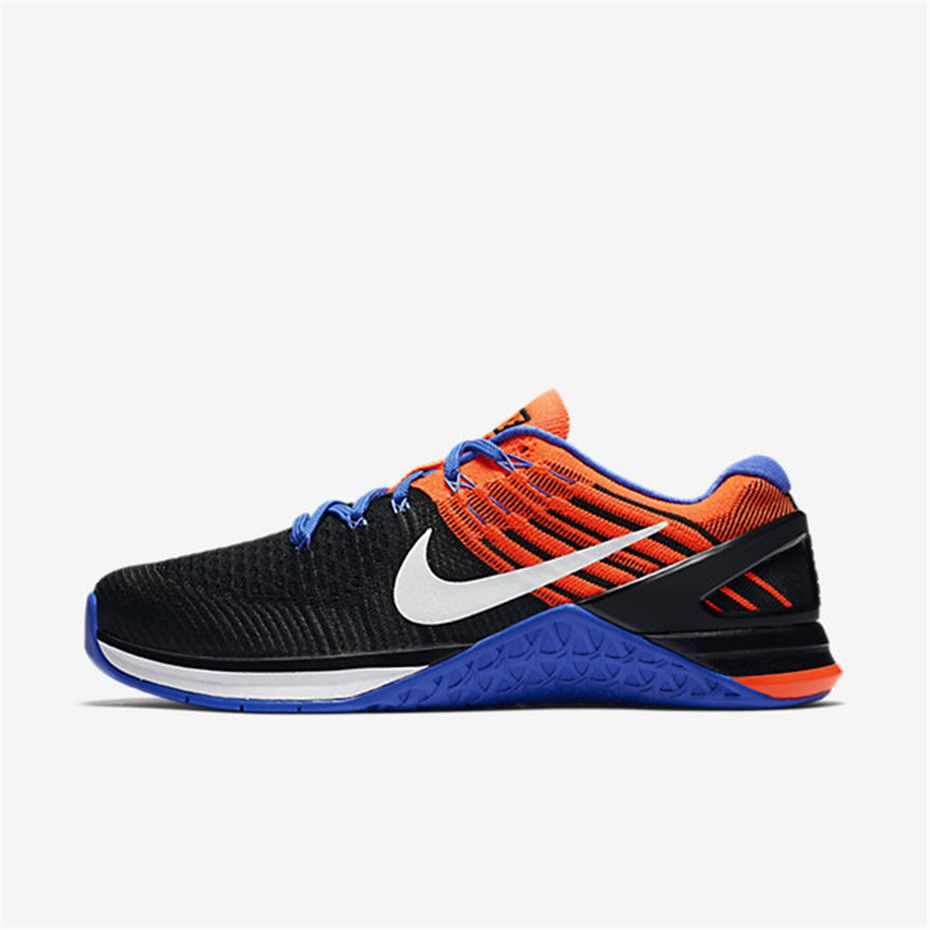 Nike Metcon DSX Flyknit (Black / Total Crimson / Medium Blue / White)