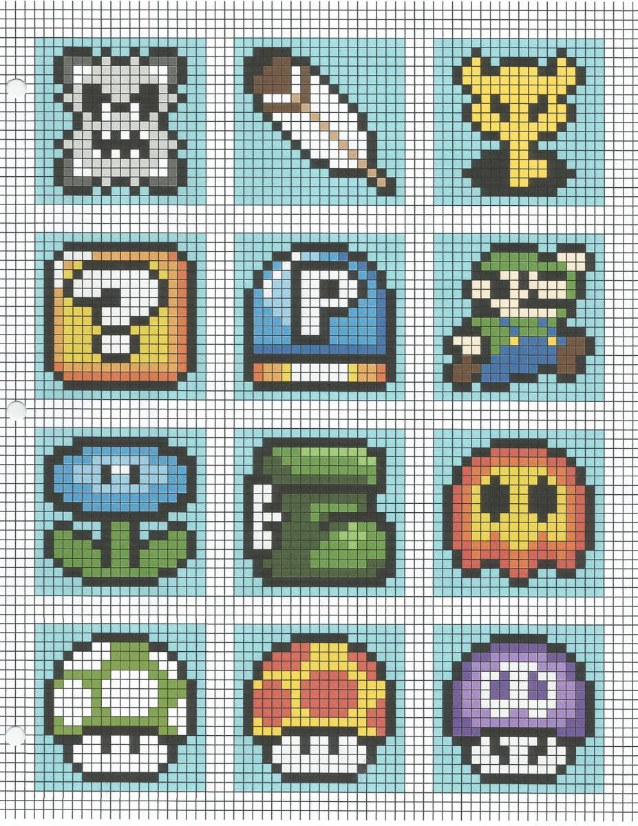 Mario bros | crochet graph ideas | Pinterest | Tipos de patrones ...