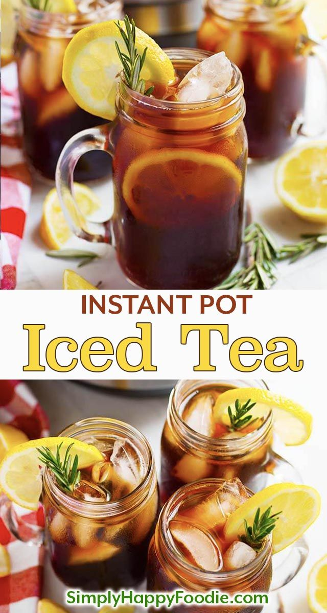 Instant Pot Iced Tea is refreshing and very easy to make. Pressure cooker iced tea is not bitter, and you can make it as strong as you like.  Instant Pot Iced Tea recipe using black tea, or your favorite blend