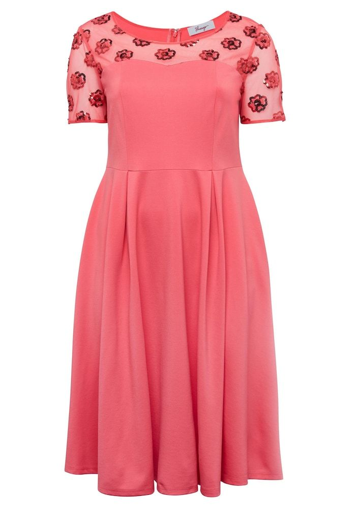 Photo of SHEEGO cocktail dress in coral