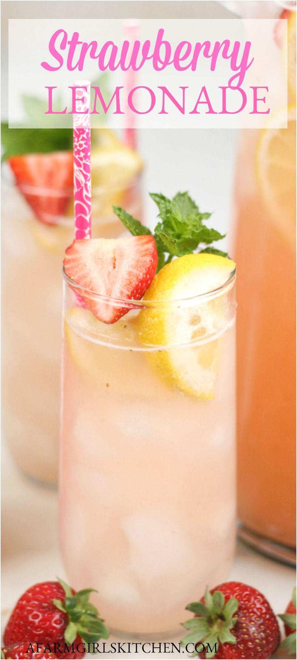 BEST Homemade Strawberry Lemonade (simple ingredients)