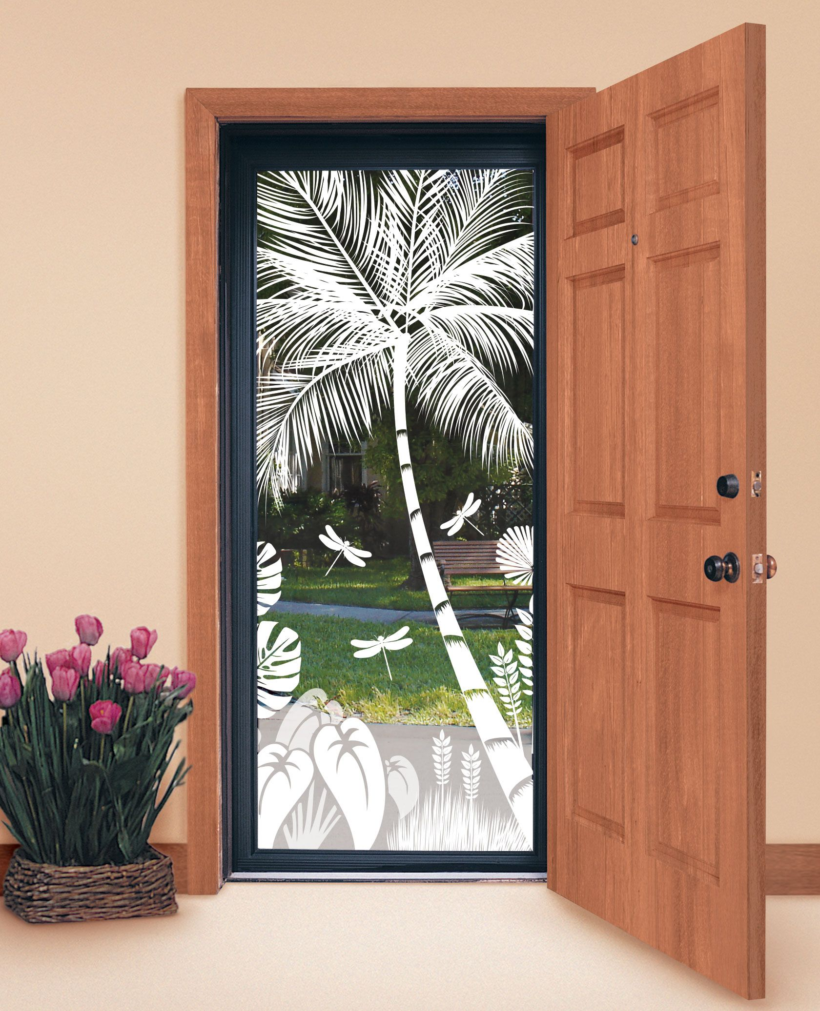 Design Your Own Tropical Etched Glass Windows And Doors ...