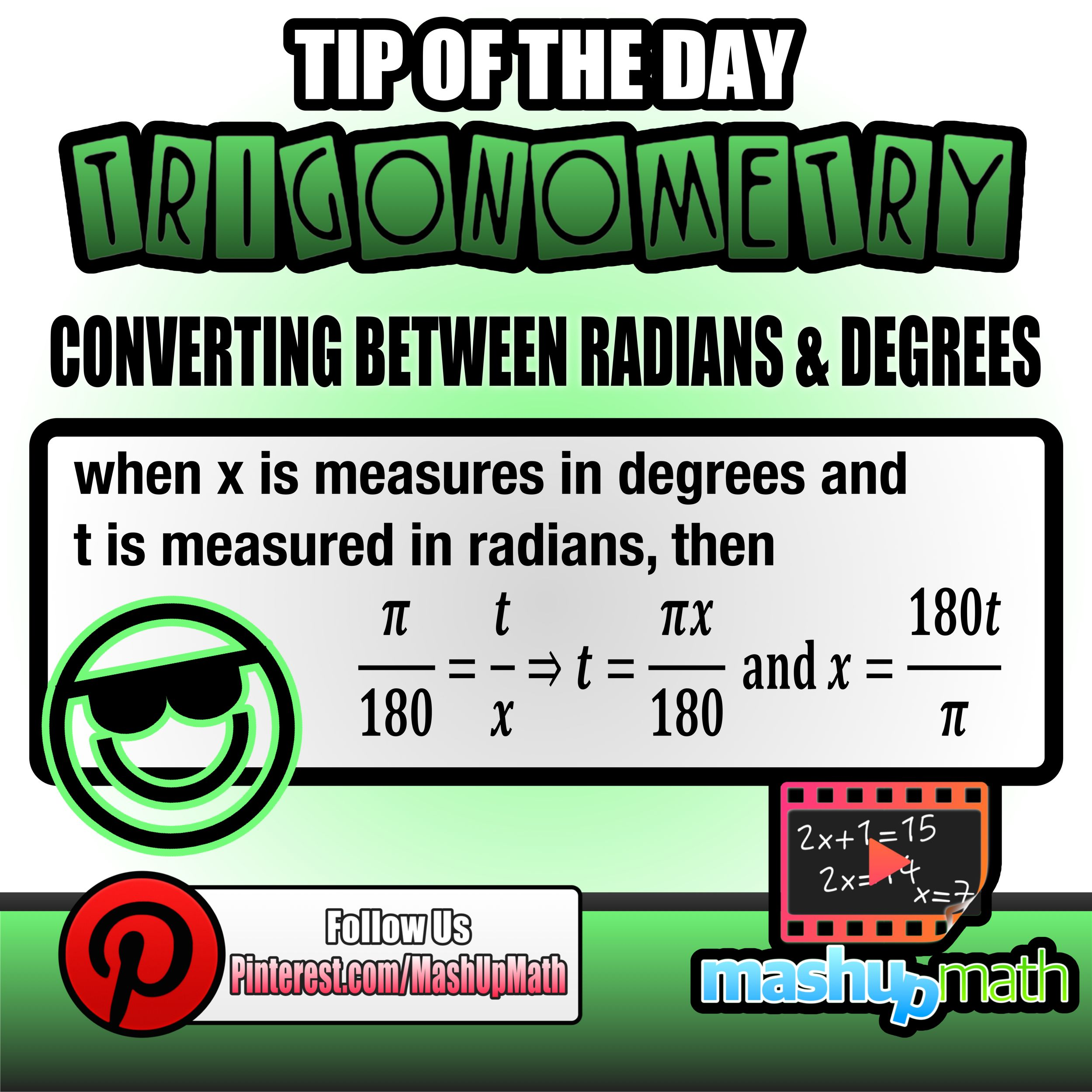 Do You Know How To Convert Between Radians And Degrees