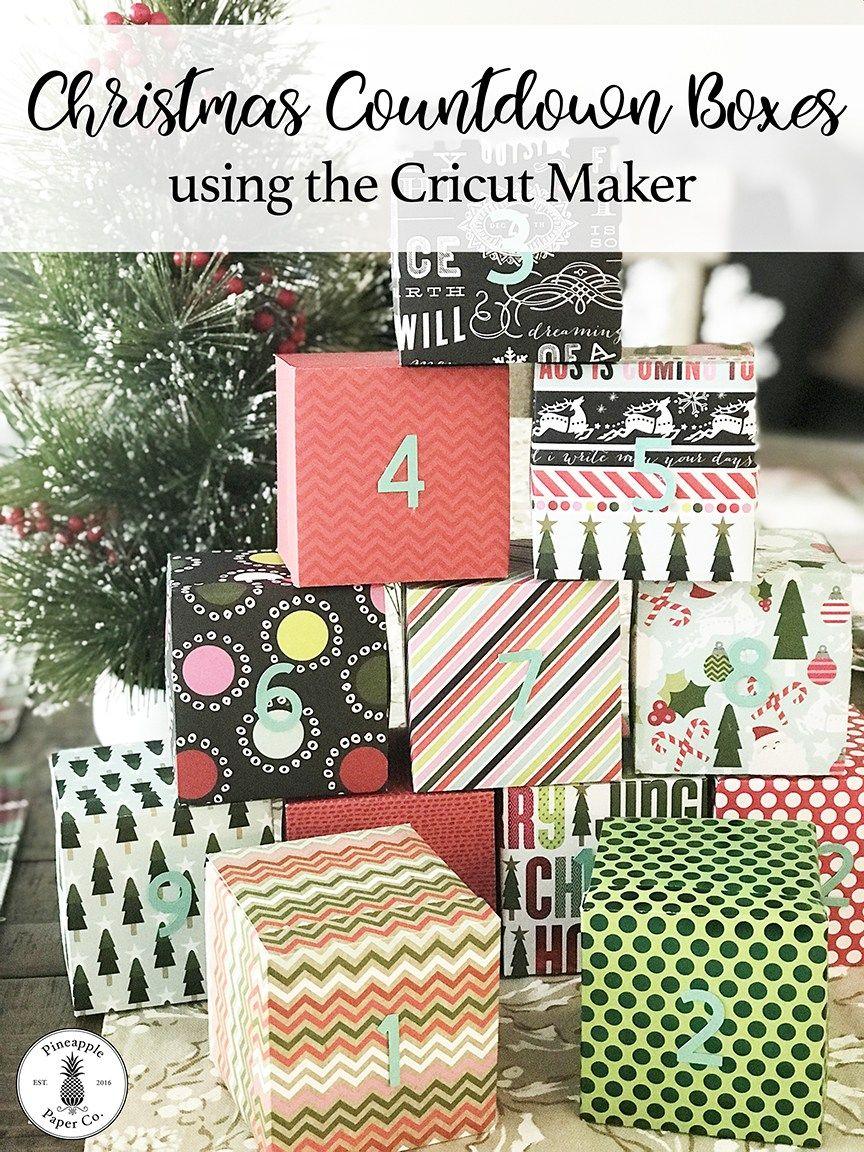 12 Days Of Christmas Countdown Boxes Diy Pineapple Paper Co Christmas Projects Diy Christmas Countdown Diy Diy Advent Calendar