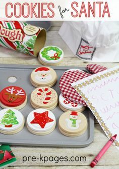 Cookies for Santa Dramatic Play for Preschool and Kindergarten