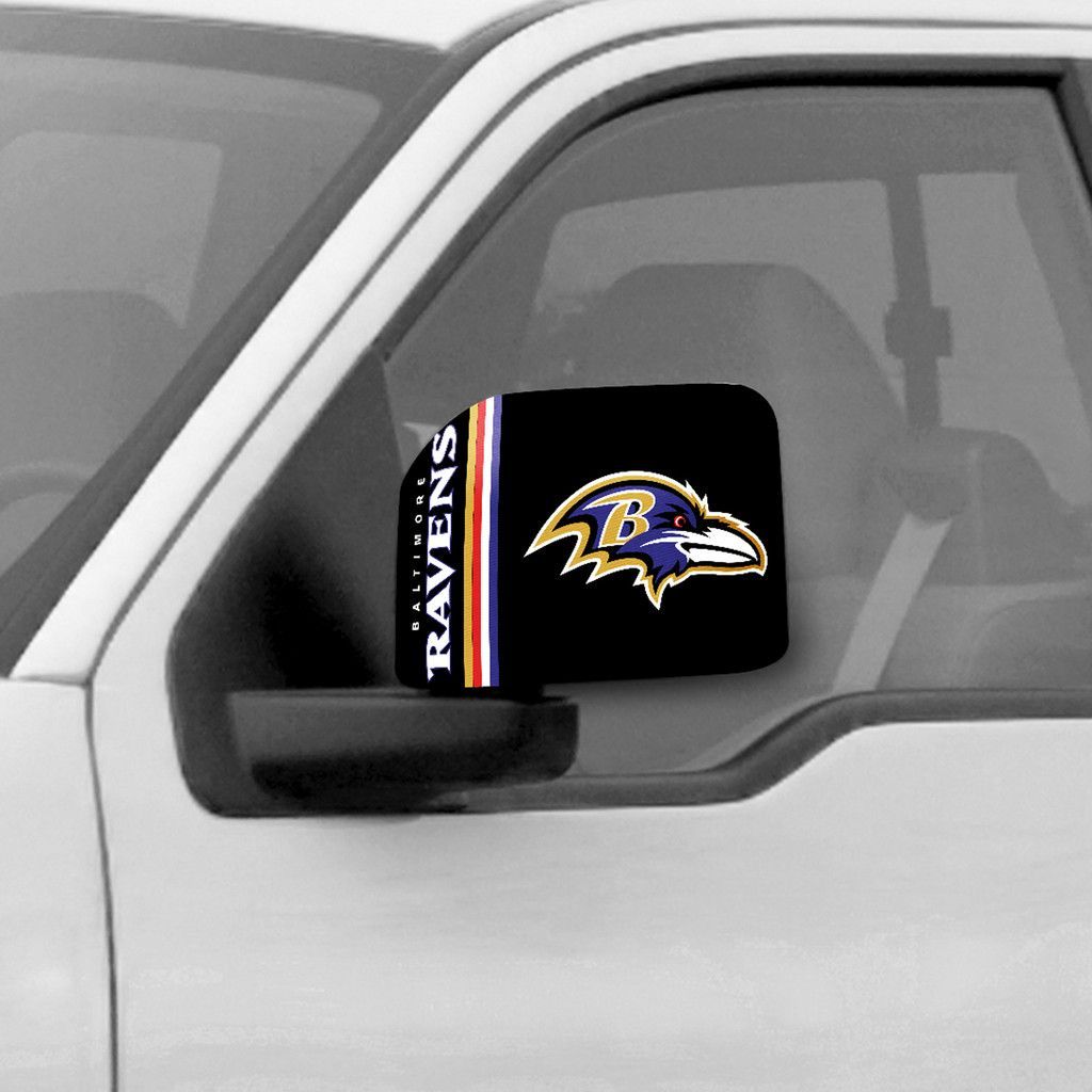 Licensed NFL Baltimore Ravens Car Mirror Covers 2-Pack Trucks//Large SUV/'s