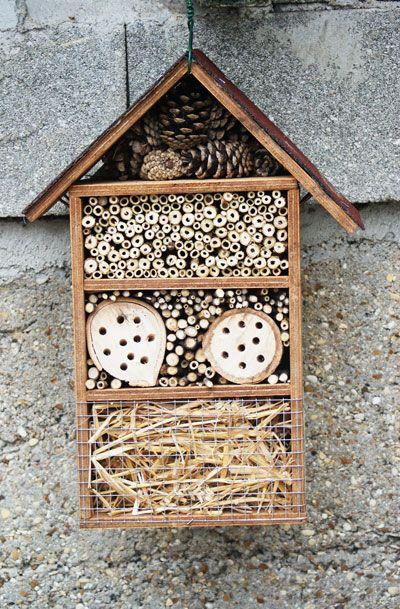 h tels et nichoirs insectes a se passe au jardin exterieur pinterest insectes. Black Bedroom Furniture Sets. Home Design Ideas