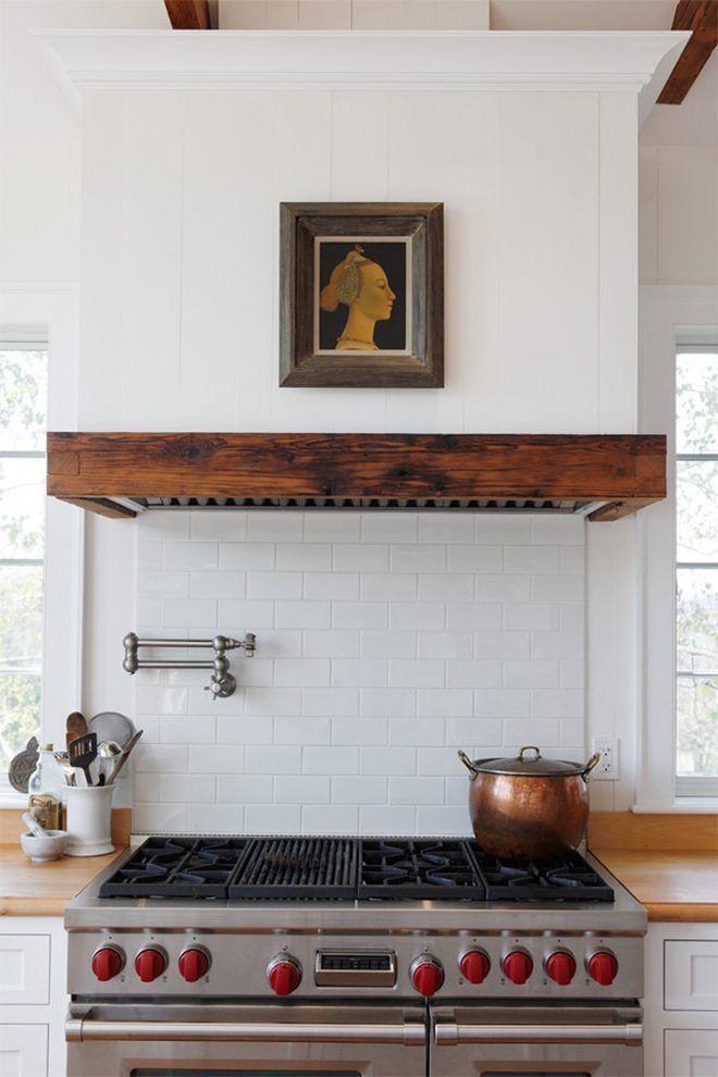 Flush vent hood kitchen farmhouse with range hood copper pot