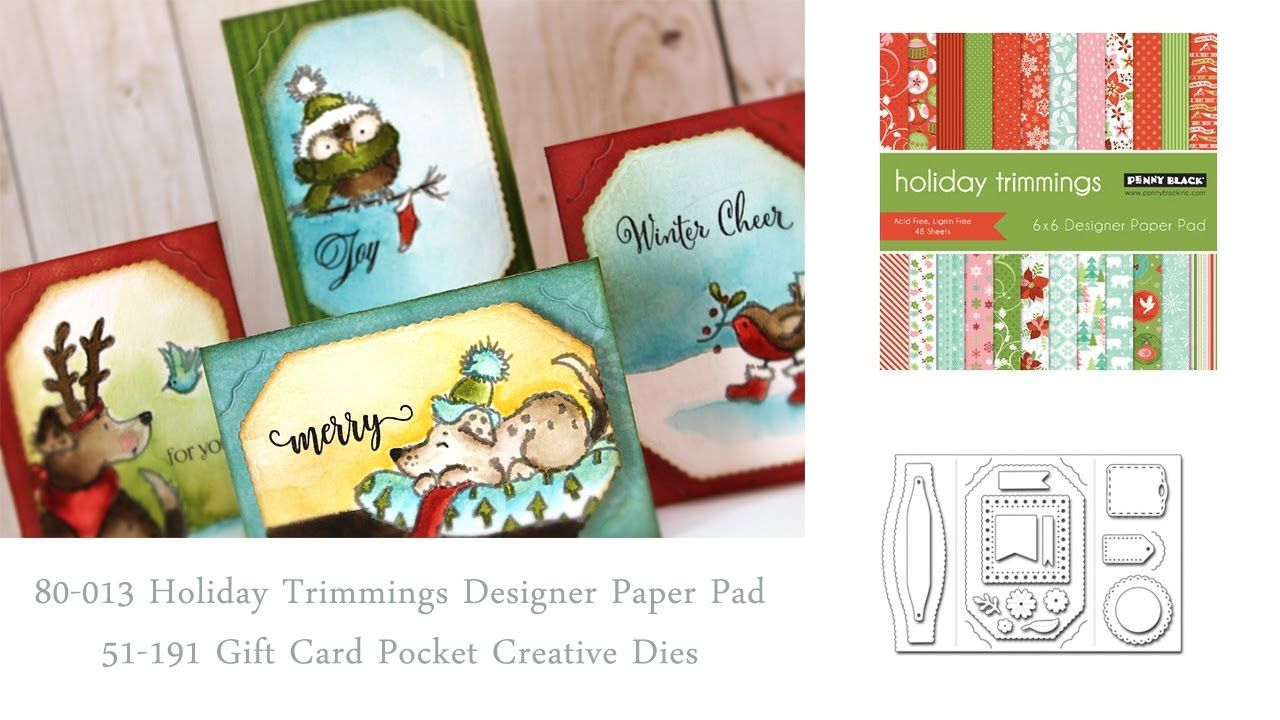 Handmade Gift Card Holders Penny Black Cards Penny Black Stamps