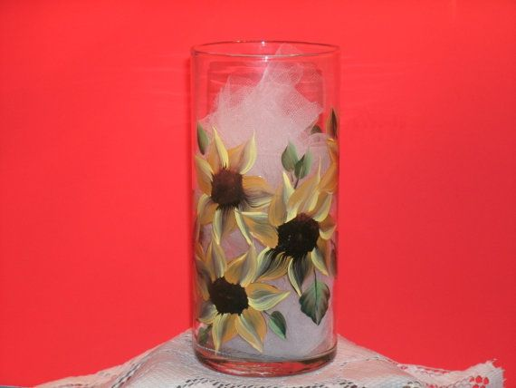 SUNFLOWER VASES set of two por RBEBERUS436 en Etsy