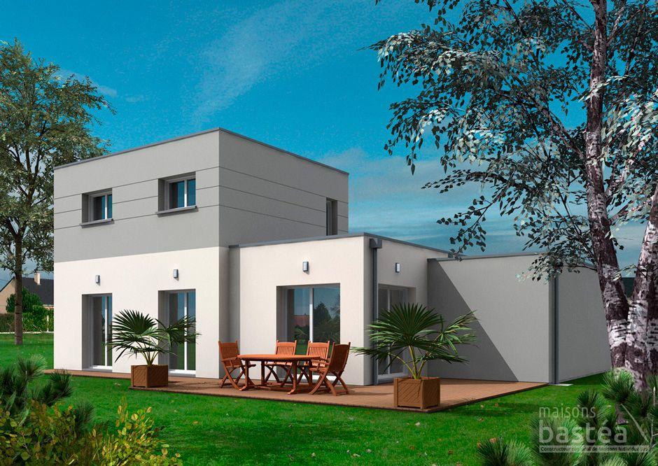 aurelia maison cubique moderne avec garage par maisons bastea
