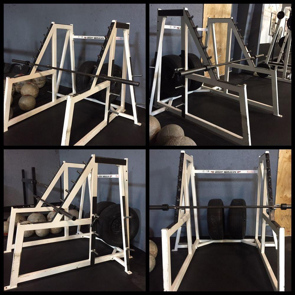 Body Masters Waterfall Squat Rack Sporting Goods Fitness Running Amp Yoga Strength Training Ebay Squat Rack Squats Body