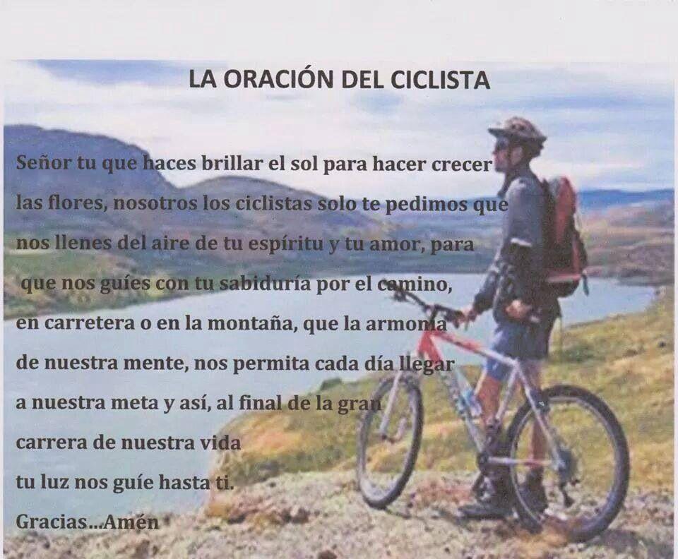 La Oración Del Ciclista Frases De Ciclista Ciclismo Y