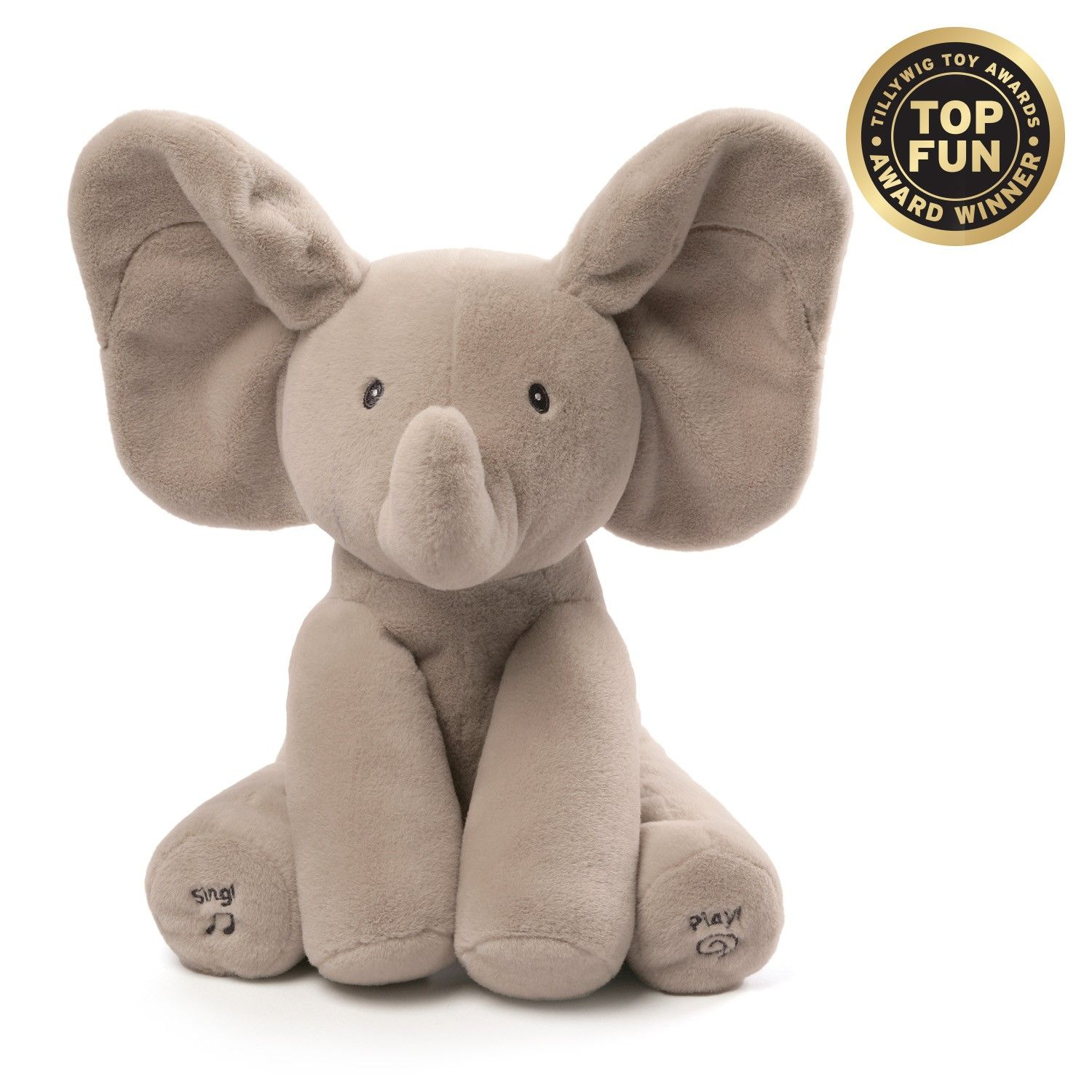 GUND Flappy the Elephant is an adorable singing animated plush