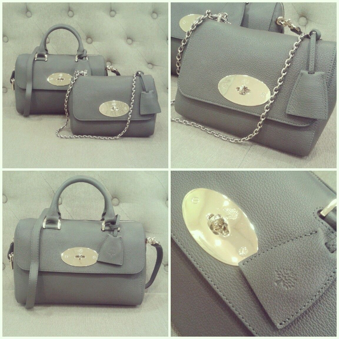 9f1bc6207b Mulberry Small Del Ray and Lily in Mole Grey.