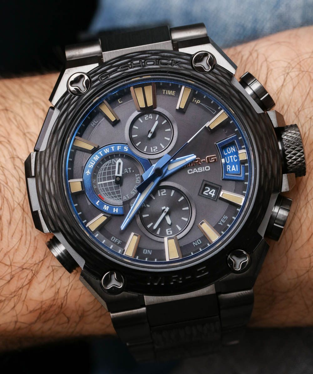 Hands-on review   original photos from Baselworld 2017 of the Casio G-Shock  MR-G MRGG2000HT-1A Hammer Tone watch with price 8dd390020c