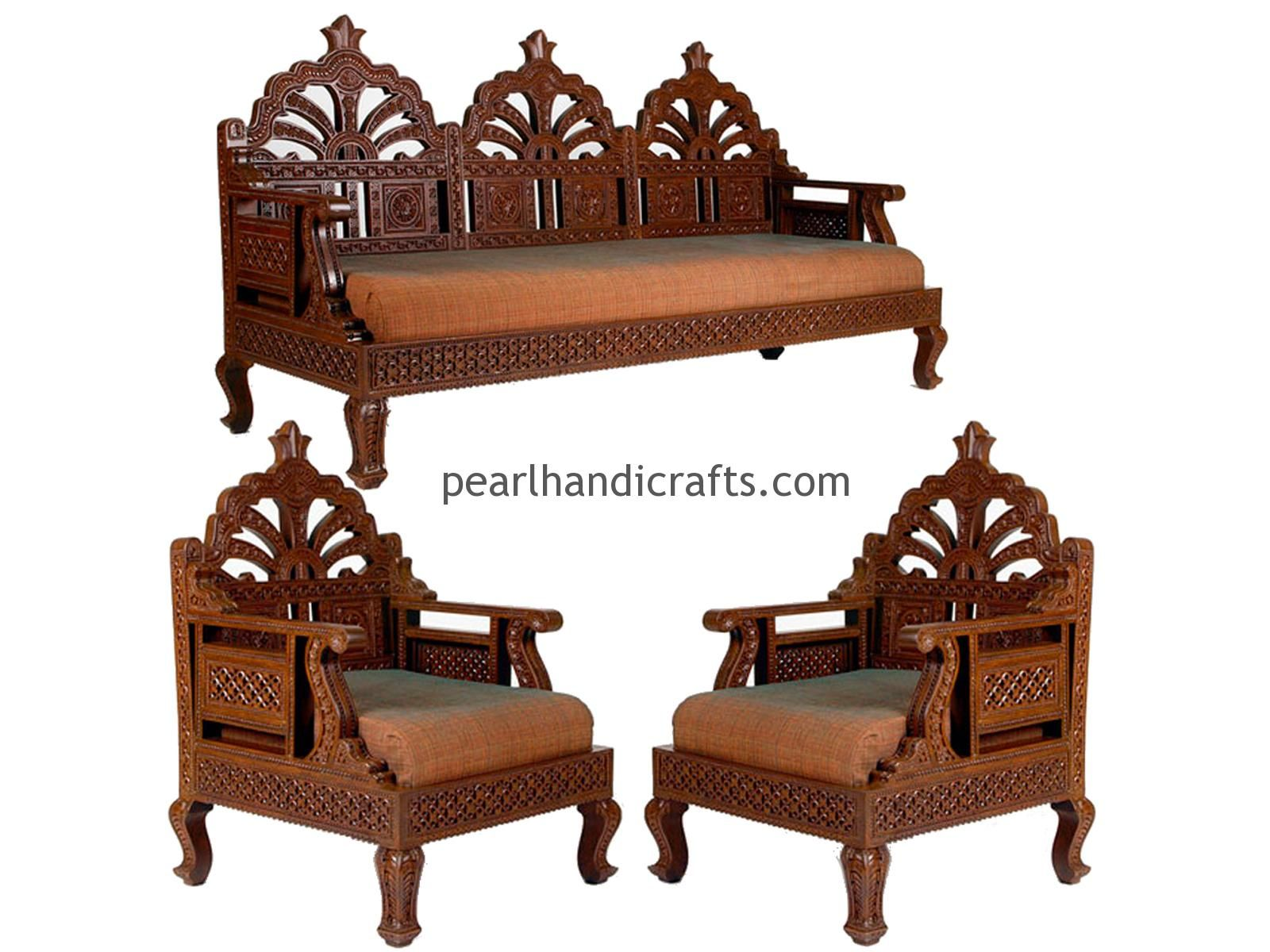 Foam Cushions For Wooden Sofa India In 2020 Wooden Sofa Wood Sofa Teak Furniture Set